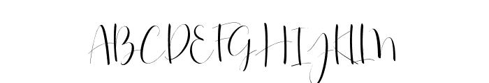 Roselyne-Regular Font UPPERCASE