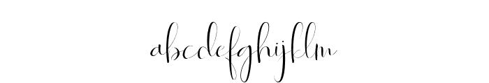 Roselyne-Regular Font LOWERCASE
