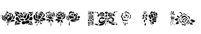 Roses! Roses! Font UPPERCASE