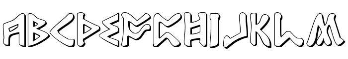 Rosicrucian 3D Font UPPERCASE