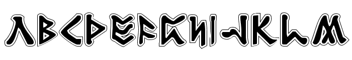 Rosicrucian Academy Font LOWERCASE