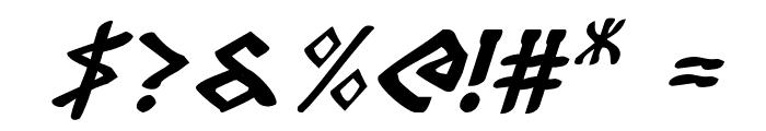 Rosicrucian Italic Font OTHER CHARS