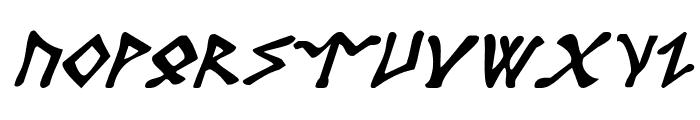 Rosicrucian Italic Font UPPERCASE