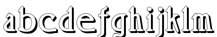 Rossano Shadow Font LOWERCASE