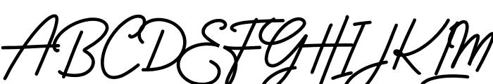 Rossela Signature Font Demo Font UPPERCASE