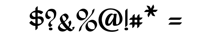 Rostock Kaligraph Font OTHER CHARS