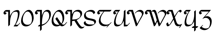 Rostock Kaligraph Font UPPERCASE