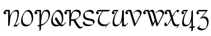 RostockKaligraph Font UPPERCASE