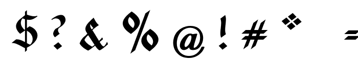 Rotunda Pommerania UNZ1A Italic Font OTHER CHARS