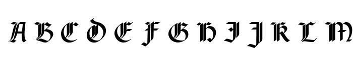 Rotunda Pommerania UNZ1A Italic Font UPPERCASE