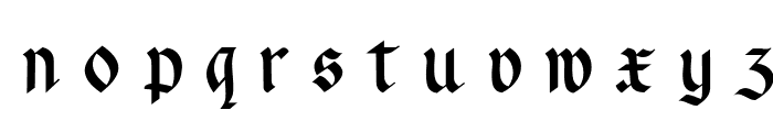 Rotunda Pommerania UNZ1A Italic Font LOWERCASE