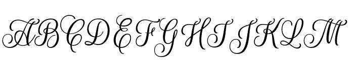 Rouge Script Font UPPERCASE