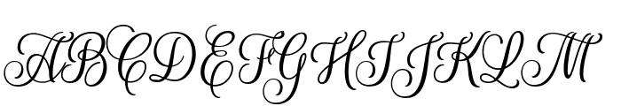 RougeScript-Regular Font UPPERCASE