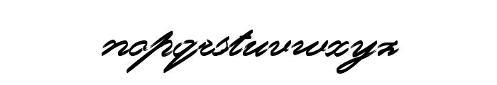 Rough Brush Script Font LOWERCASE