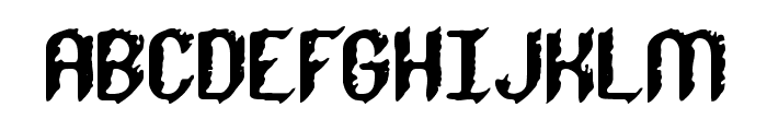 Rough Day BRK Font UPPERCASE