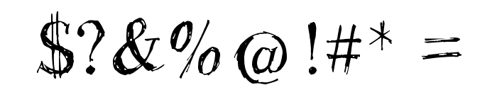 Rough Draught Font OTHER CHARS