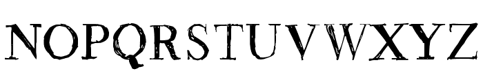 Rough Draught Font UPPERCASE