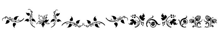 Rough Fleurons Free Font UPPERCASE