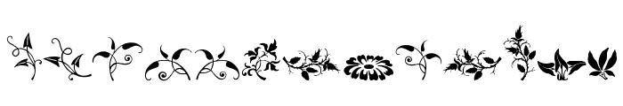 Rough Fleurons Free Font LOWERCASE