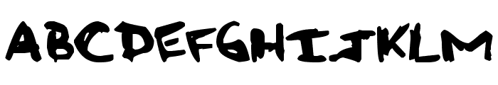 Rough Graffiti Font LOWERCASE