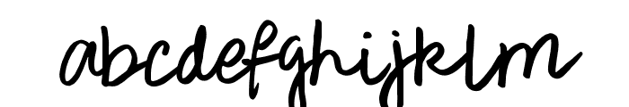 Rough Notes Sample Font LOWERCASE