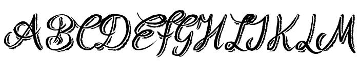 Rough Script Font UPPERCASE