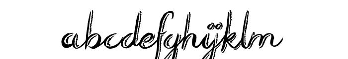 Rough Script Font LOWERCASE