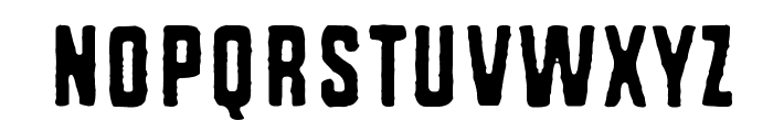 Rough Simple Font UPPERCASE