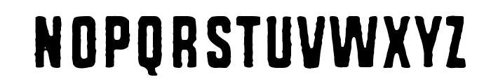 Rough Simple Font LOWERCASE