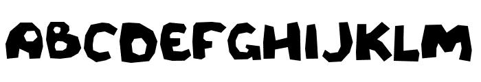 Rough cut Font UPPERCASE