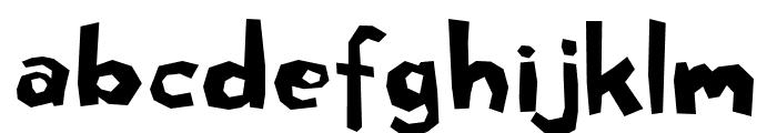 Rough cut Font LOWERCASE