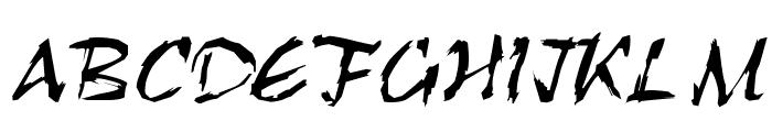 RoughBrush Font UPPERCASE