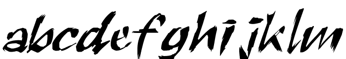 RoughBrush Font LOWERCASE