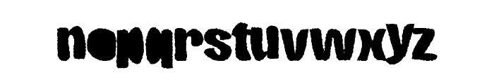 RoughCut Font LOWERCASE