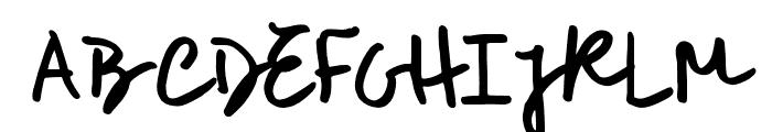 RoughNotesSample Font UPPERCASE