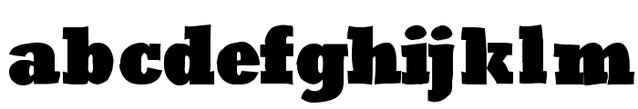 RoughRockys Font LOWERCASE