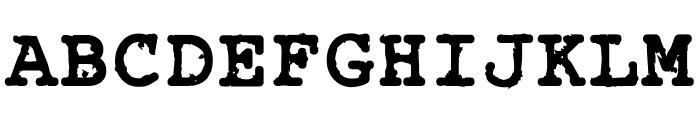 Rough_Typewriter Bold Font UPPERCASE