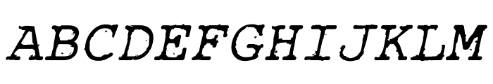 Rough_Typewriter Italic Font UPPERCASE