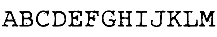 Rough_Typewriter Font UPPERCASE