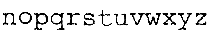 Rough_Typewriter Font LOWERCASE