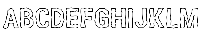 Roughen Corner Regular Font UPPERCASE