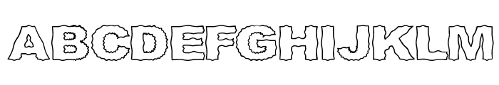 Roughhewn Outline Font UPPERCASE