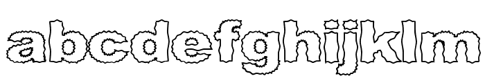 Roughhewn Outline Font LOWERCASE