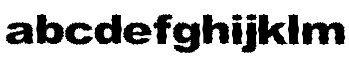 Roughhewn Font LOWERCASE