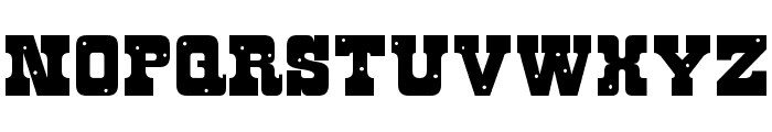 Roughknight Font UPPERCASE