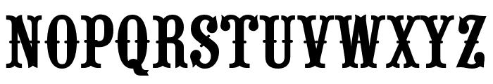 RouletteCapsOpti Font LOWERCASE