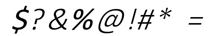 Round About Italics Font OTHER CHARS