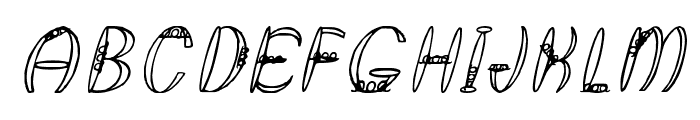 Round About Italics Font UPPERCASE