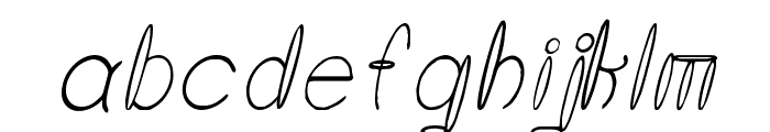 Round About Italics Font LOWERCASE
