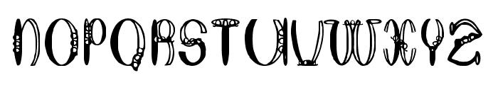Round About Ratherish Font UPPERCASE